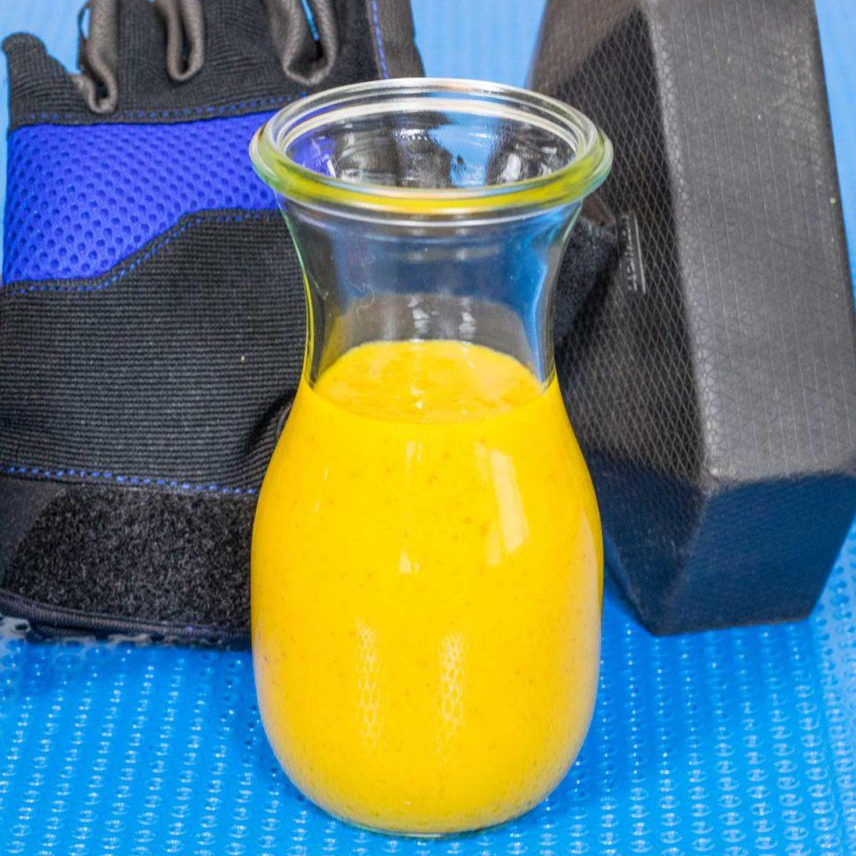 Batido de Mango y Cúrcuma Late Sin Lactosa - www.coquinare.com - Dulces Recuerdos Sin Lactosa